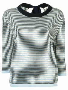 Chinti and Parker striped crew neck sweater - Blue