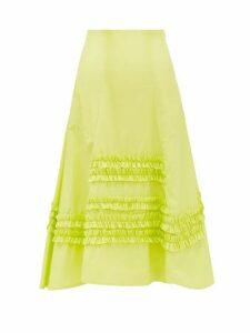 Molly Goddard - Jane Ruffled Cotton Skirt - Womens - Green