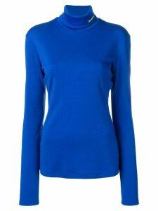 Calvin Klein roll neck knitted top - Blue