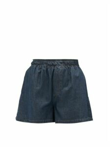 Matthew Adams Dolan - Elasticated-waist Denim Shorts - Womens - Denim