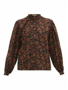 William Vintage - Yves Saint Laurent 1970 Floral-print Wool Blouse - Womens - Black Multi