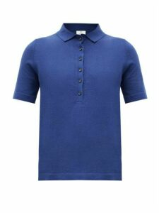 Allude - Knitted Polo Shirt - Womens - Navy