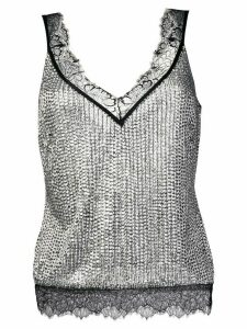 Amen embellished camisole top - Metallic