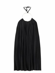 Balmain - Ring Halterneck Pleated-jersey Dress - Womens - Black