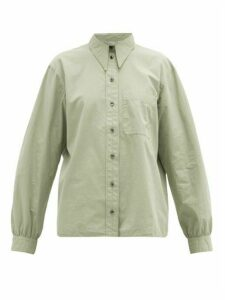 Lemaire - Point-collar Cotton Poplin Shirt - Womens - Light Green