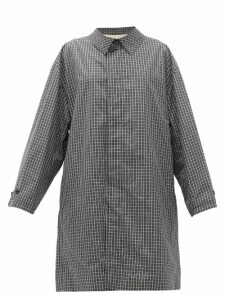 Raf Simons - Single-breasted Checked Cotton-blend Coat - Womens - Black White