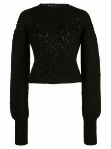 Voz Diamante Sweater - Black