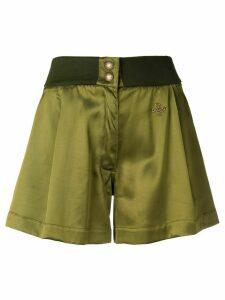 Mr & Mrs Italy logo plaque shorts - Green