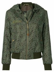 Mr & Mrs Italy lace embroidered bomber jacket - Green
