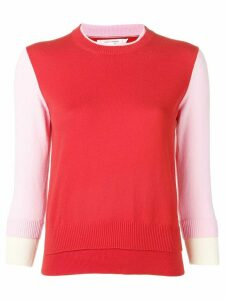 Chinti and Parker contrast panel sweatshirt - Red