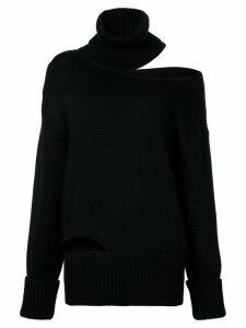 Monse off shoulder cut-out sweater - Black