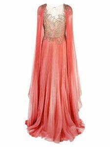 Marchesa embellished gown - ORANGE