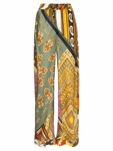 Chloé Loose fit floral print silk trousers - 8ZA MULTICOLOUR