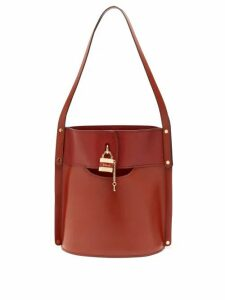 Chloé - Aby Leather Bucket Bag - Womens - Dark Brown