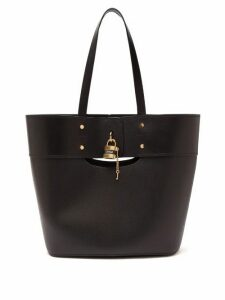 Chloé - Aby Large Smooth And Grained-leather Tote - Womens - Black