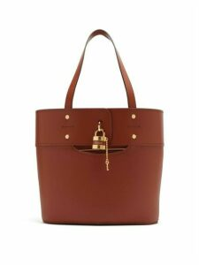 Chloé - Aby Small Leather Tote Bag - Womens - Dark Brown