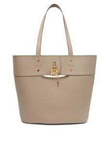 Chloé - Aby Large Grained-leather Tote - Womens - Grey