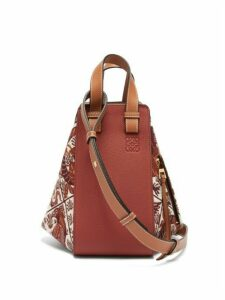 Loewe - Hammock Jacquard-patterned Small Leather Bag - Womens - Red Multi