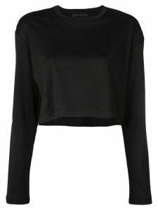 WARDROBE. NYC Release 03 long sleeve crop top - Black