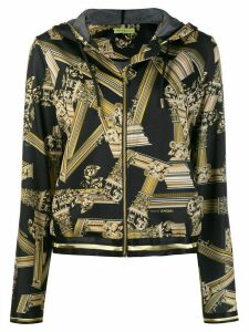 Versace Jeans Couture baroque print zipped hoodie - Black