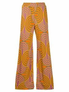 La Doublej printed palazzo pants - Yellow