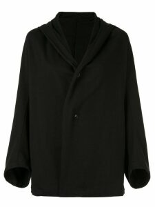 Y's hooded cardigan - Black