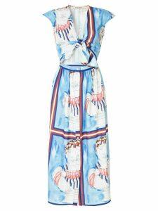 Tata Naka printed midi dress - Blue