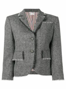 Thom Browne Donegal Fray Classic Sport Coat - Grey