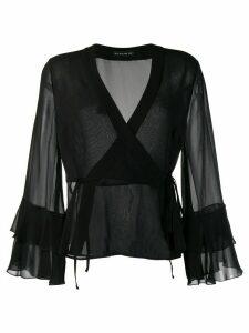 Etro wrap style front blouse - Black