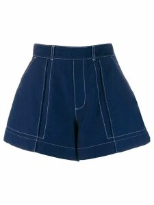 Chloé flared denim shorts - Blue