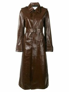 Ami Paris patent leather overshirt - Brown