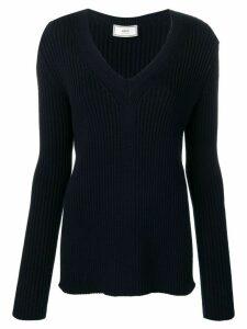 Ami Paris V-neck jumper - Blue