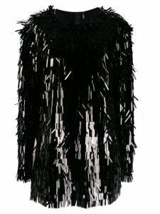 Norma Kamali all-over sequin fringe top - Black