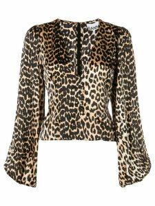 GANNI leopard print top - GOLD