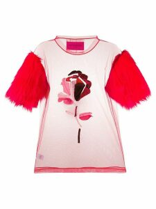 Viktor & Rolf A Single Rose T-shirt - Red