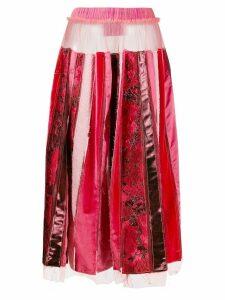 Viktor & Rolf recycled pleated skirt - Red