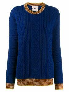 Plan C cable knit jumper - Blue