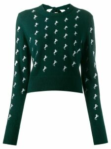 Chloé horse embroidered jumper - Green