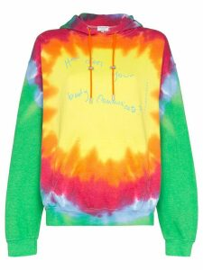 Collina Strada tie-dye printed hoodie - Yellow