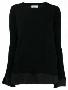 Dondup layered crew neck jumper - Black
