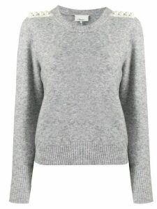 3.1 Phillip Lim Pearl Embellished Sweater - Grey