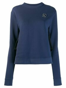 Karl Lagerfeld frilled back sweatshirt - Blue