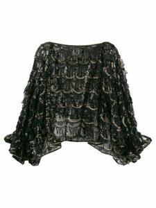 Talbot Runhof embellished loose-fit top - Black