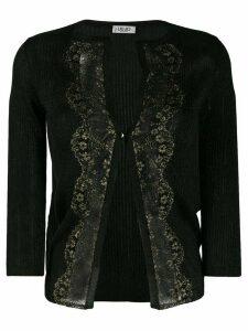 LIU JO lace detail cardigan - Black