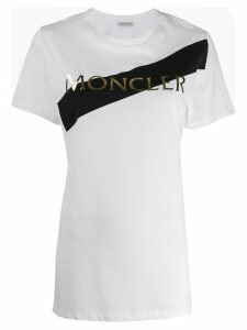 Moncler logo printed T-shirt - White