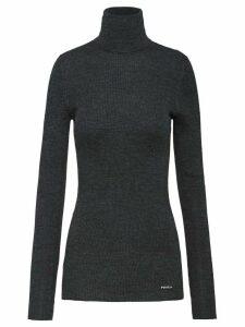 Prada roll-neck ribbed jumper - Grey