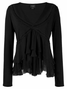 Giambattista Valli ruffled blouse - Black