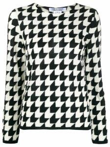 Comme Des Garçons Comme Des Garçons geometric knit jumper - Black