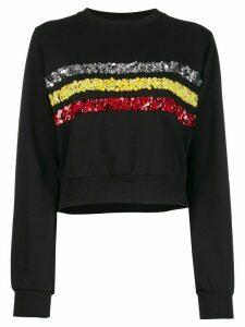 No Ka' Oi rush sweater with embroidery - Black