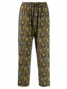 Pierre-Louis Mascia relaxed printed trousers - Green